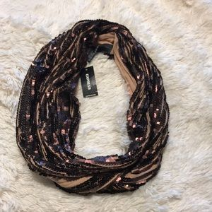 NWT sequined scarf